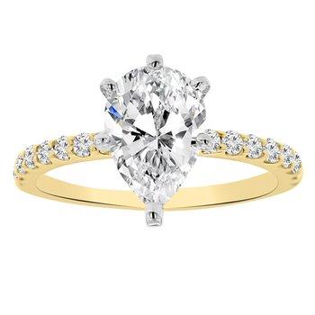 1 3/4ct tw NewBorn Lab Created Diamond Engagement Ring in 14K Yellow Gold