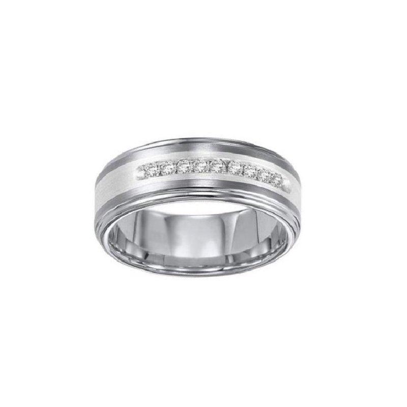 1/4ct tw Diamond Wedding Ring in Tungsten
