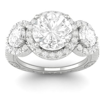 2 1/2ct tw Diamond Three Stone Engagement Ring in 14K White Gold