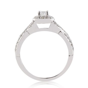1/2ct tw Diamond Together Forever Engagement Ring in 14K White Gold