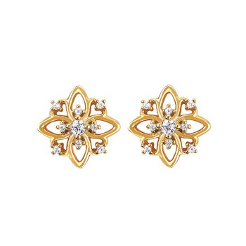 1/10ct tw Diamond Fashion Stud Earrings in 14K Yellow Gold