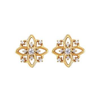 1/10ct tw Diamond Fashion Stud Earrings in 14K Yellow Gold