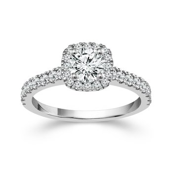 1ct tw Ramsey's 81 Diamond Engagement Ring in 14K White Gold