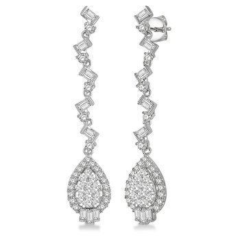 1 5/8ct tw Diamond Thousand Points of Light Earrings in 18K White Gold