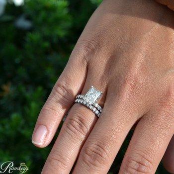 3ct tw NewBorn Lab Created Diamond Engagement Ring in 14K White Gold