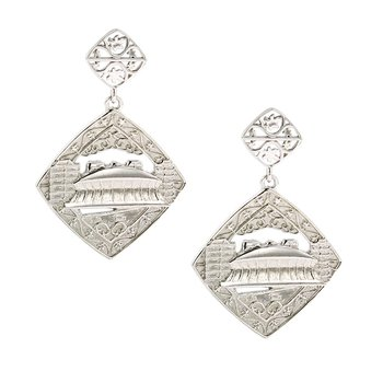 Nola Collection Dome Earrings in Sterling Silver