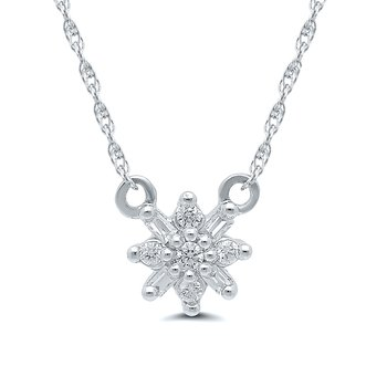1/10ct tw Diamond Fashion Necklace in 10K White Gold