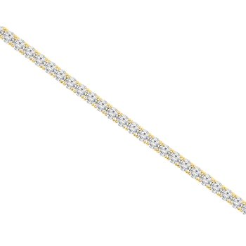 17ct tw NewBorn Lab Created Diamond Tennis Bracelet in 14K Yellow Gold