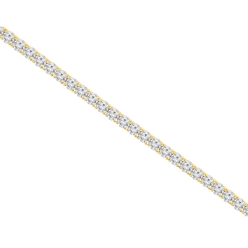 17ct tw NewBorn Lab Created Diamond Tennis Bracelet in 14K Yellow Gold