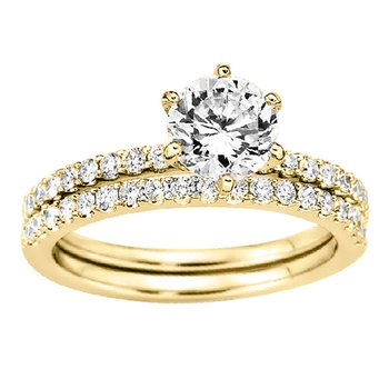 1/4ct tw Diamond Wedding Ring in 14K Yellow Gold