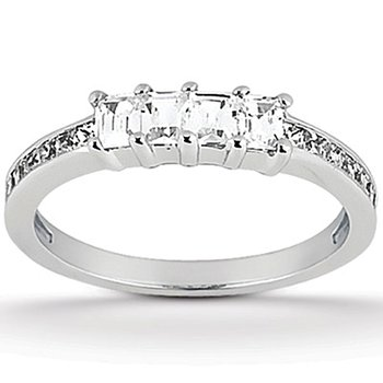 1ct tw Diamond Wedding Ring in 14K White Gold