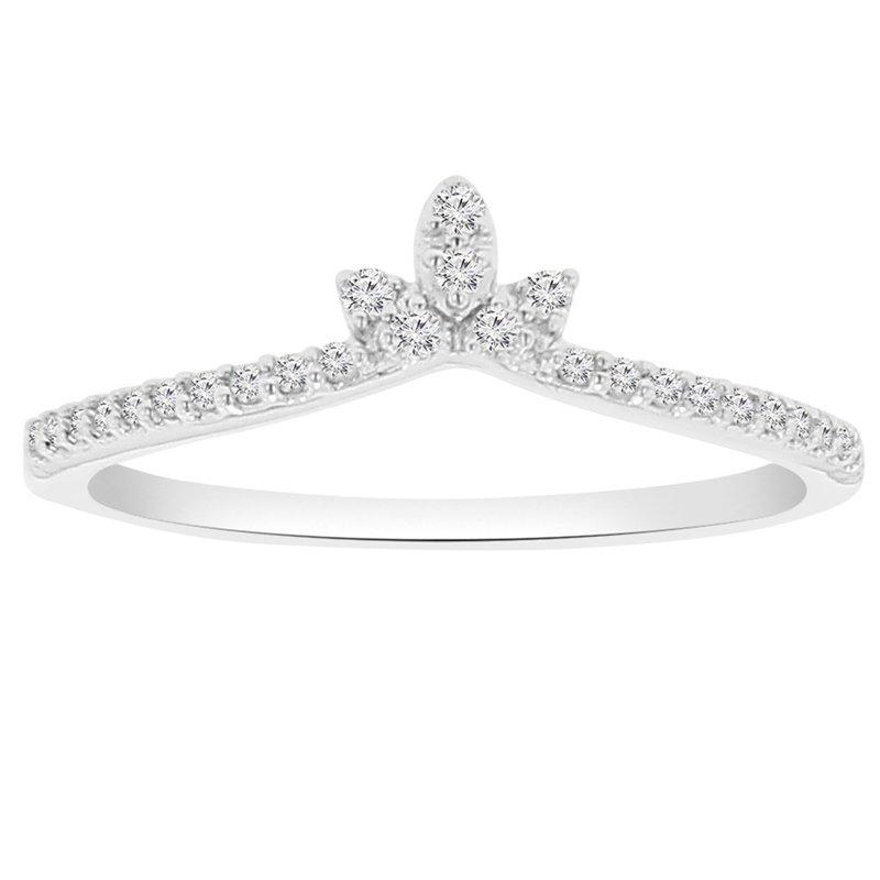 1/8ct tw Diamond Fashion Ring in 14K White Gold