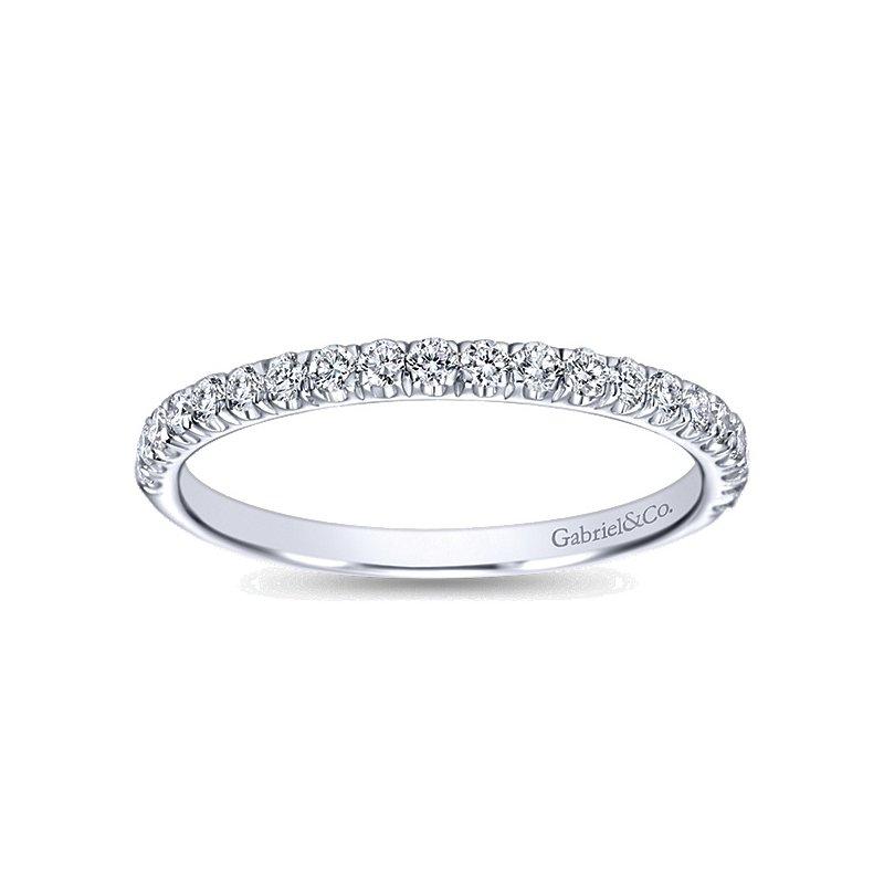 1/3ct tw Diamond Wedding Ring in 14K White Gold