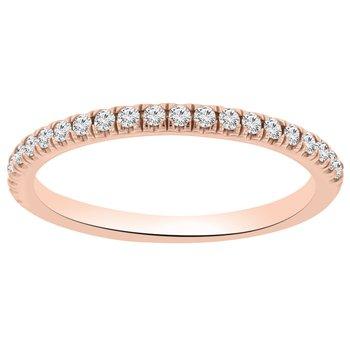 1/5ct tw Diamond Wedding Ring in 14K Rose Gold
