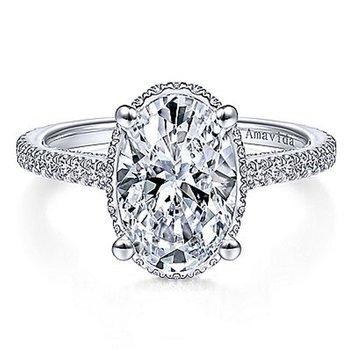 2 7/8ct tw NewBorn Lab Created Diamond Engagement Ring in 18K White Gold