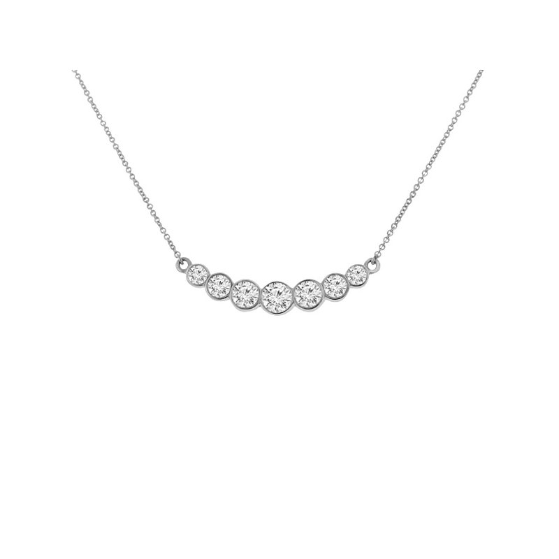 1/2ct tw Diamond Bar Necklace in 14K White Gold