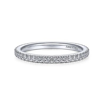 1/4ct tw Diamond Wedding Ring in 18K White Gold