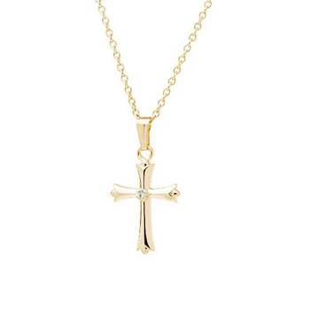Children's Cross Necklace in 14K Yellow Gold Filled