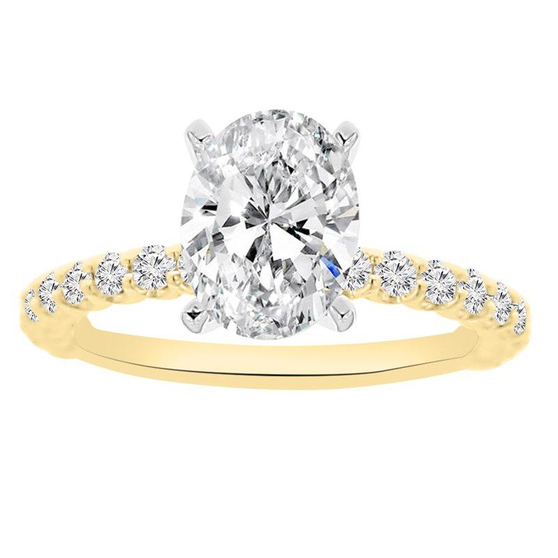 1/2ct tw NewBorn Lab Created Diamond Engagement Ring Setting in 14K Yellow Gold