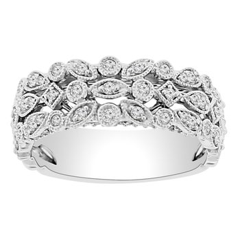 3/8ct tw Diamond Fashion Ring in 14K White Gold