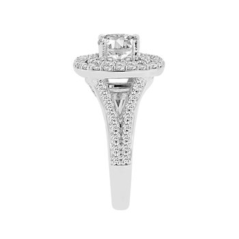 1 1/4ct tw Diamond Halo Engagement Ring Setting in 14K White Gold