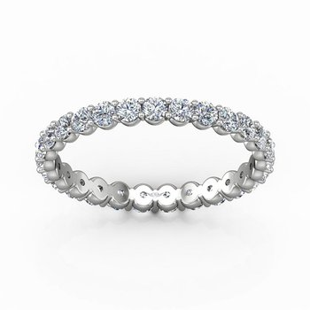 1ct tw Diamond Eternity Ring in 14K White Gold