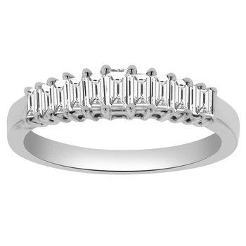 1/2ct tw Diamond Anniversary Ring in 18K White Gold