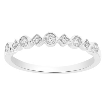 1/8ct tw Diamond Stackable Ring in 18K White Gold