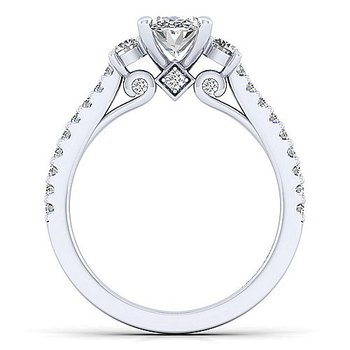 1 1/2ct tw Diamond Three Stone Engagement Ring in 14K White Gold