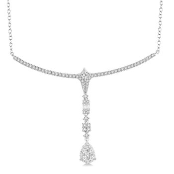 1 1/4ct tw Diamond Thousand Points of Light Necklace in 14K White Gold