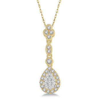 3/8ct tw Diamond Thousand Points of Light Necklace in 14K White & Yellow Gold