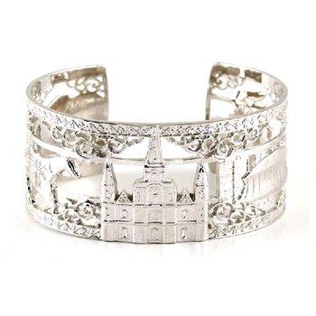 .02ct tw Diamond 8 Inch NOLA Cuff Bracelet in Sterling Silver