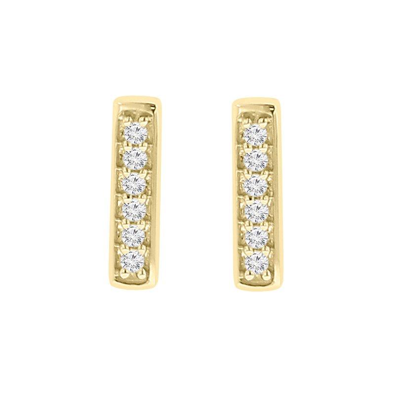 .06ct tw Diamond Fashion Stud Earrings in 10K Yellow Gold