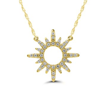 1/8ct tw Diamond Fashion Necklace in 10K Yellow Gold