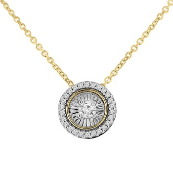 1/5ct tw Diamond Simply Love Collection in 10K White & Yellow Gold