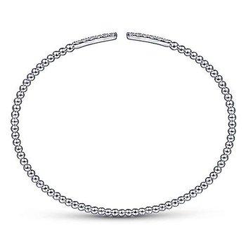 1/3ct tw Diamond Bujukan Bangle Bracelet in 14K White Gold