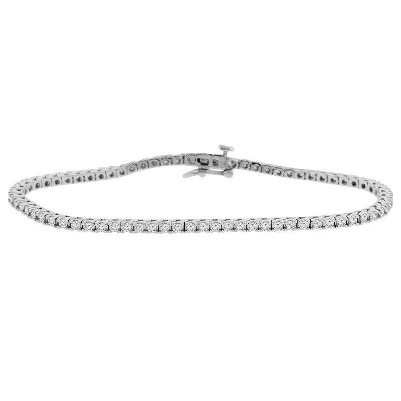 1 1/2ct tw NewBorn Lab Created Diamond Tennis Bracelet in 14K White Gold