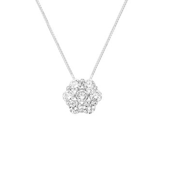 1ct tw NewBorn Lab Created Diamond Thousand Points of Light Necklace in 14K White Gold