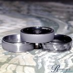 8mm Wedding Ring in Tantalum & Carbon Fiber