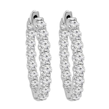7 1/2ct tw NewBorn LabCreated Diamond Hoop Earrings in 14K White Gold