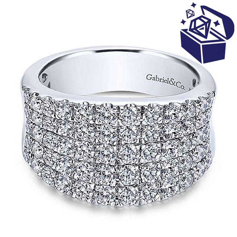Treasure Hunt Value 1 7/8ct tw Diamond Fashion Ring in 14K White Gold