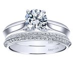 1ct tw Diamond Solitaire Engagement Ring in 18K White Gold