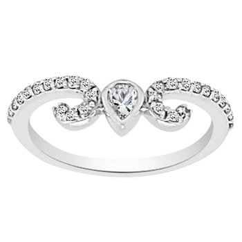 3/8ct tw NewBorn Lab Created Diamond Wedding Ring in 14K White Gold