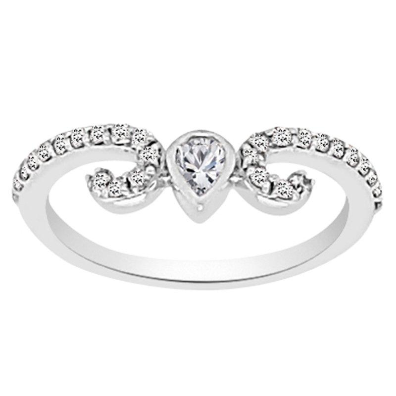 3/8ct tw NewBorn Lab Created Diamond Wedding Ring in 14K White Gold