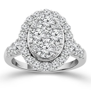 2 1/2ct tw NewBorn Lab Created Diamond Thousand Points of Light Engagement Ring in 14K White Gold