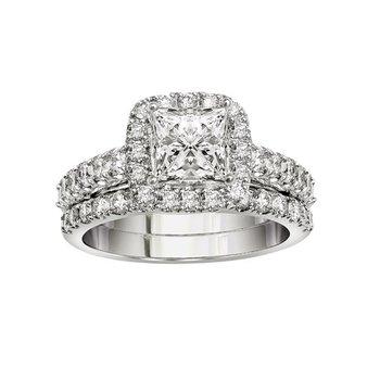 3/8ct tw Diamond Wedding Ring in 14K White Gold