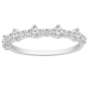 1/2ct tw Diamond Stackable Ring in 10K White Gold
