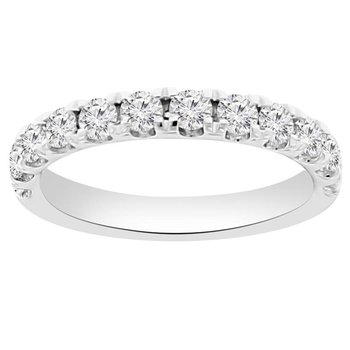 3/4ct tw NewBorn Lab Created Diamond Stackable Ring in 14K White Gold