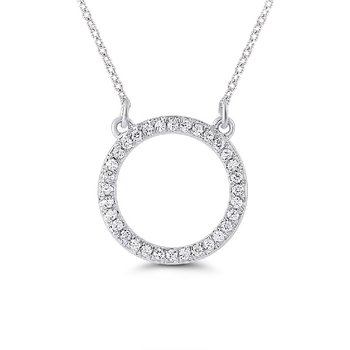1/10ct tw Diamond Circle Necklace in Sterling Silver