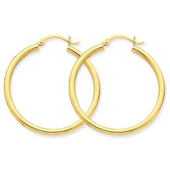 35mm Hoop Earrings in 14K Yellow Gold